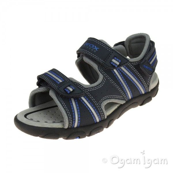 Geox Strada Boys Navy-Dark Royal Sandal