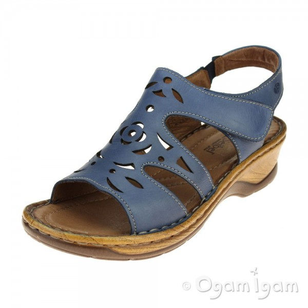 Josef Seibel Catalonia 56 Womens Cobalt Sandal