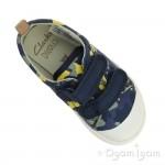 Clarks Halcy High Boys Navy Camo Shoe