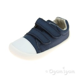 Clarks Tiny Pebble Boys Navy Shoe