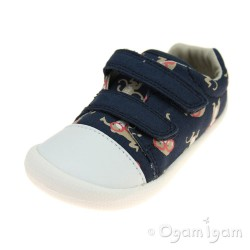 Clarks Tiny Pebble Boys Blue Combi Shoe