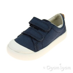 Clarks Halcy High Boys Navy Shoe