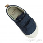 Clarks Halcy High Boys Navy Shoe