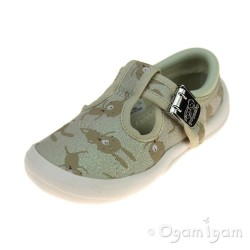 Clarks Briley Bow Girls Cotton Combi Shoe