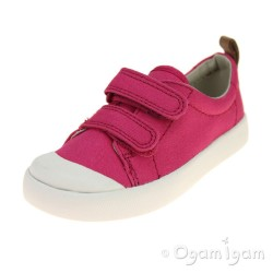 Clarks Halcy Hati Girls Pink Shoe