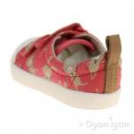 Clarks Halcy Hati Girls Coral Combi Shoe
