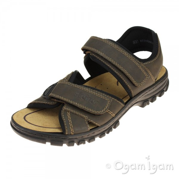 Rieker 2505127 Mens Brown Sandal