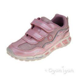 Geox Shuttle Girls Pink-Silver Trainer