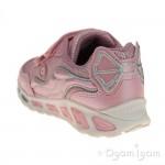 Geox Shuttle Girls Pink-Silver Trainer