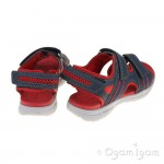Geox Gleeful Boys Navy-Red Sandal