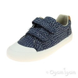 Clarks Comic Cool Girls Navy Combi Shoe