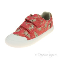 Clarks Comic Cool Girls Coral Combi Shoe