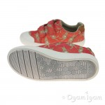 Clarks Comic Cool Girls Coral Combi Shoe
