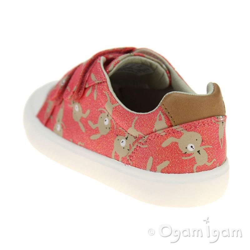 9c20802b74802 ... Clarks Comic Cool Girls Coral Combi Shoe ...