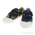 Clarks Comic Air Boys Navy Camo Shoe