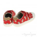 Clarks Comic Air Boys Red Combi Shoe