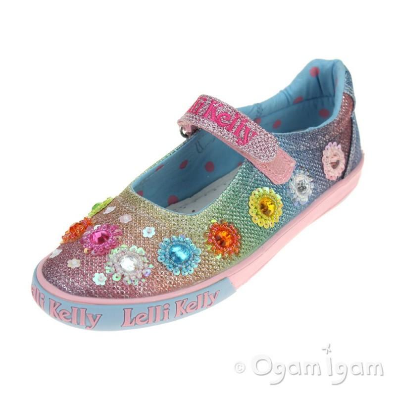 49264ca122ca Lelli Kelly Millesoli Girls Multi Glitter Shoe | Ogam Igam