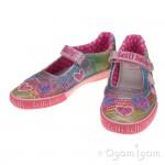 Lelli Kelly Hearts Girls Multi Glitter Shoe