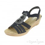 Rieker 6245914 Womens Pazifik Blue Wedge Sandal