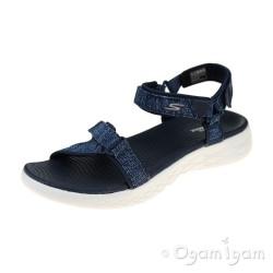 Skechers On The Go Radiant Womens Navy-White Sandal