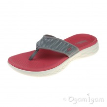 Skechers On The Go 600 Womens Grey-Pink Sandal