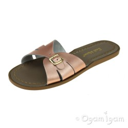 Salt-Water Classic Slides Womens Rose Gold Sandal