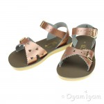 Salt-Water Sweetheart Girls Rose Gold Sandal