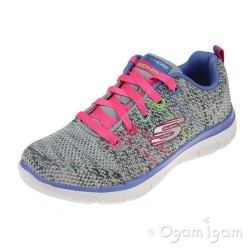 Skechers Skech Appeal High Energy Girls Light Grey-Multi Trainer