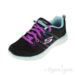 Skechers Skech Appeal High Energy Girls Black-Multi Trainer