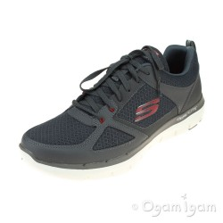 Skechers Flex Advantage Lindman Mens Charcoal-Red Trainer
