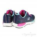 Skechers Jumptech Girls Navy-Multi Trainer