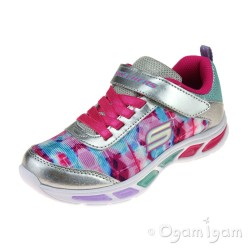 Skechers Litebeams DanceNGlow Girls Silver-Multi Trainer