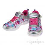 Skechers Litebeams DanceNGlow Girls Silver-Multi Trainer