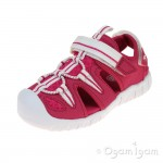 Clarks Rapid Beach Girls Raspberry Sandal