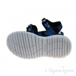 Clarks Surfing Coast Boys Blue Combi Sandal