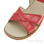 Clarks Darcy Charm Girls Coral Patent Sandal