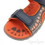 Clarks Rocco Surf Boys Navy-Orange Combi Sandal