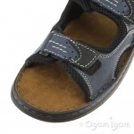 Josef Seibel Franklyn Mens Ocean-Black Sandal