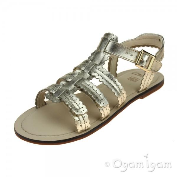 Clarks Loni Moon Girls Gold Sandal