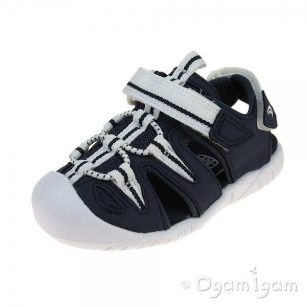 Clarks Rapid Tide Infant Boys Navy Sandal