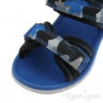 Clarks Surfing Wave Boys Blue Combi Sandal