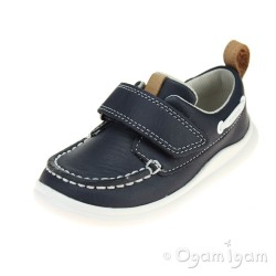 Clarks Cloud Snap Boys Navy Shoe