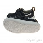 Clarks Cloud Snap Boys Navy Shoe