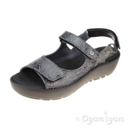 Wolky Rio Grey Crash Womens Grey Sandal