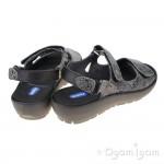 Wolky Rio Grey Crash Womens Grey Sandal