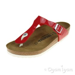 Birkenstock Gizeh Womens Patent Tango Red Sandal