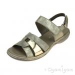Rieker 659L562 Womens Nude Sandal