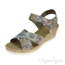 Rieker 6194390 Womens Multi Sandal