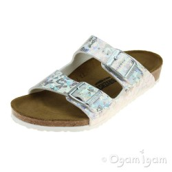 Birkenstock Arizona Kids Hologram Girls Silver Sandal