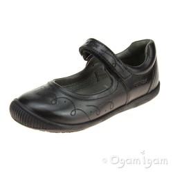 Geox Gioia Girls Black School Shoe